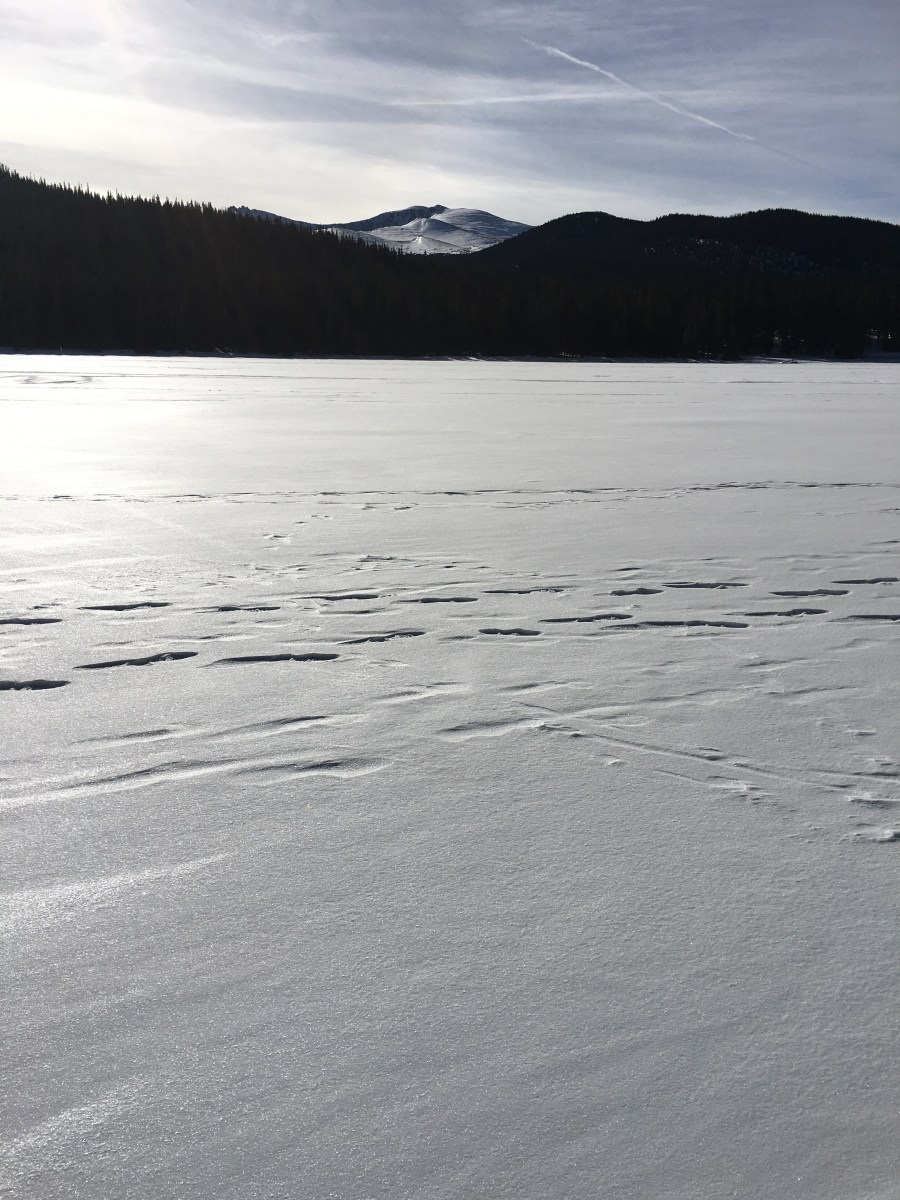 Frozen Echo lake