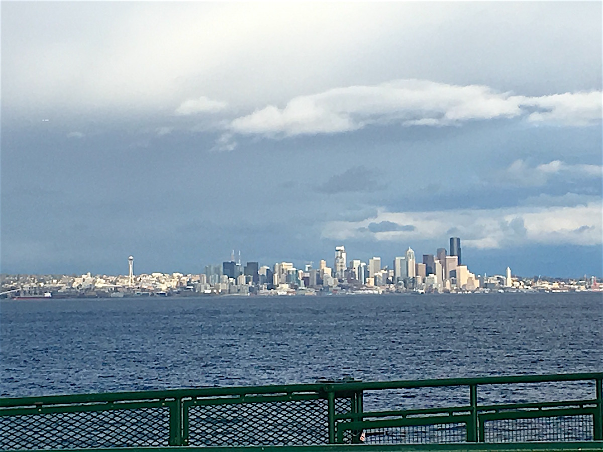 Downtown Seattle from the Bainbridge Island ferry