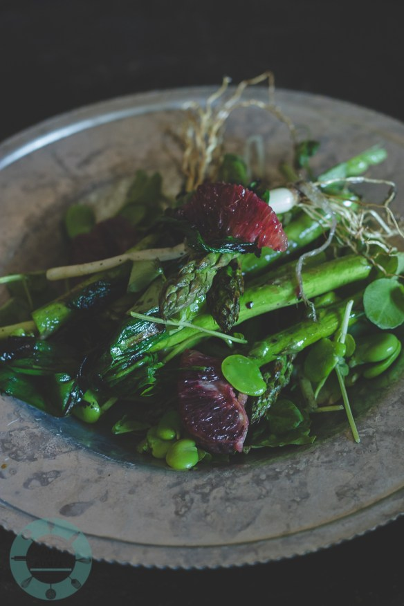 Grilled Ramp and Asparagus Salad