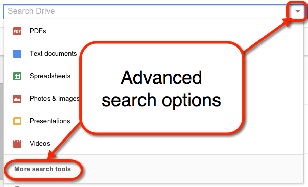 find advanced search options