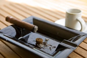 Cigar and coffee
