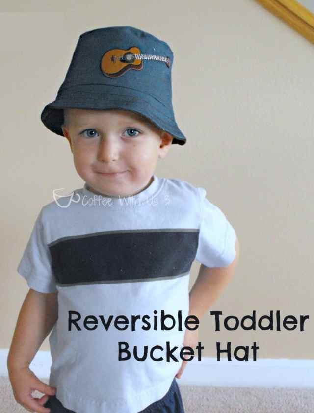Make a reversible bucket hat for your toddler following the simple sewing pattern