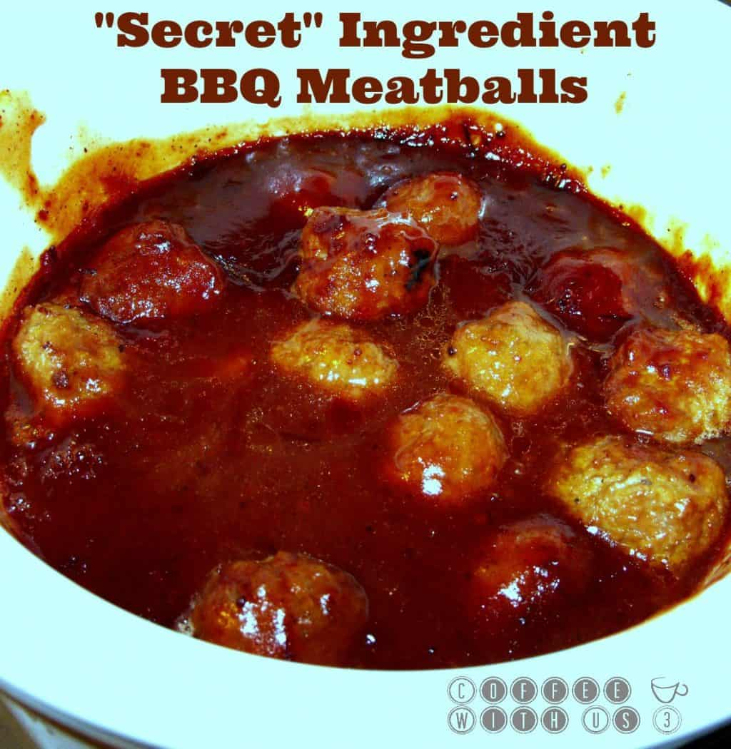 "... the ""secret"" ingredient is in these simple crockpot BBQ Meatballs"
