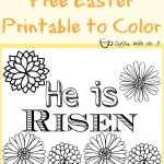 Free Easter Printables to Color