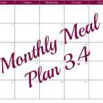 Monthly Meal Plan 3.4