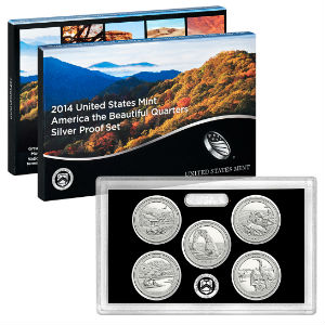 2014S 5-piece quarter Silver Proof set