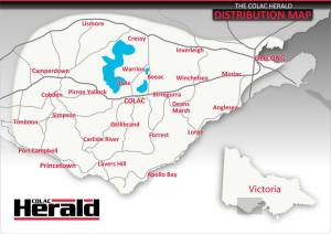 Colac Herald Distribution Map