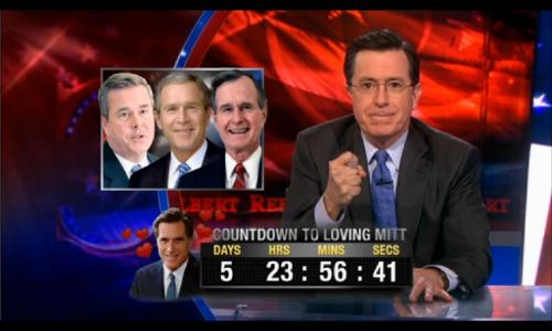 Stephen Colbert and the Bush Family