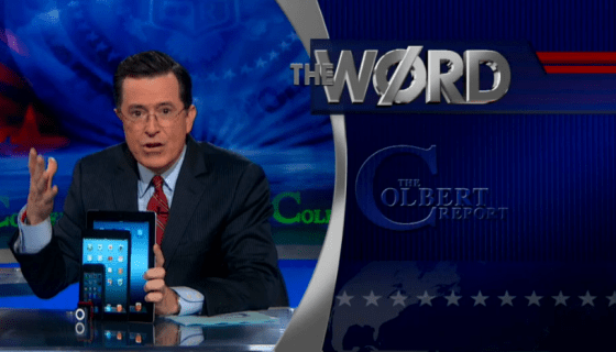 Stephen Colbert iPad