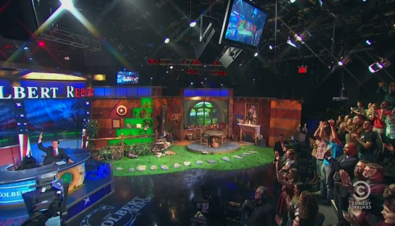 The Colbert Report Hobbit set