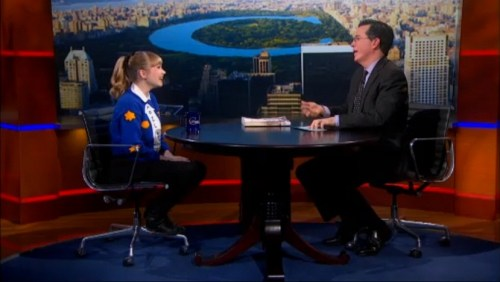 Stephen Colbert and Tavi Gevinson on The Colbert Report January 24, 2013