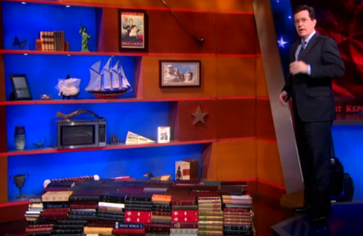 Stephen Colbert with the Bible