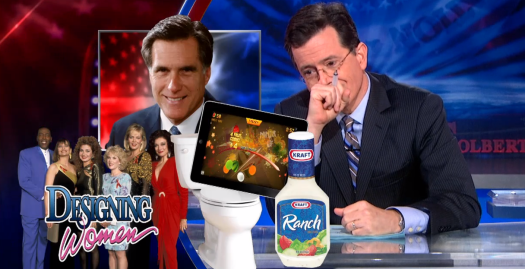 Stephen Colbert forgets Mitt Romneys name