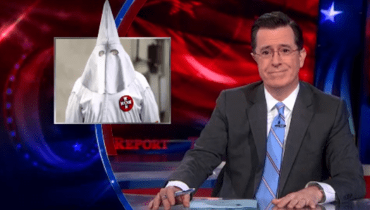 Stephen Colbert on KKK