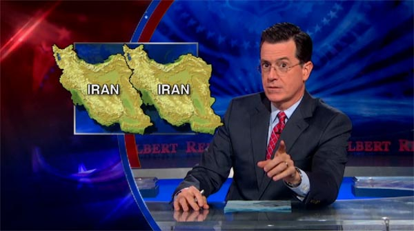 Stephen Colbert on Irans space monkey