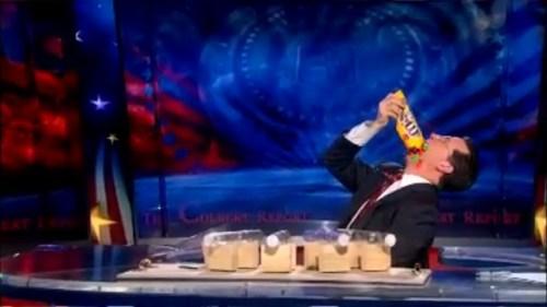 Stephen Colbert eating M&Ms