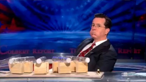 Stephen Colbert eating M&Ms