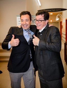 Jimmy Fallon and Stephen Colbert at Montclair Film Festival