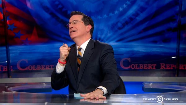 Stephen Colbert feels good