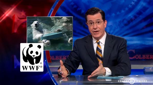Stephen Colbert on polar bears