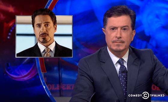 Stephen Colbert and Tony Stark beards
