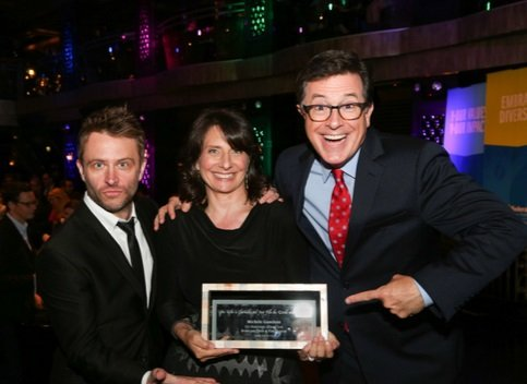 Stephen Colbert with Michele Ganeless and Chris Hardwick