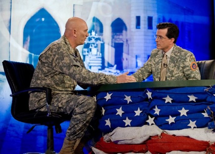 Ray Odierno on The Colbert Report in Iraq
