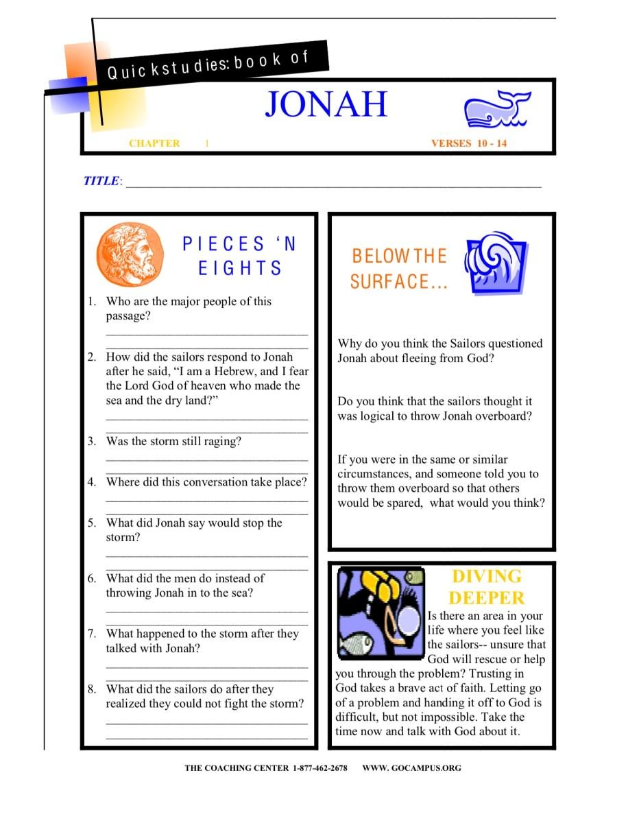 Jonah worksheet 3