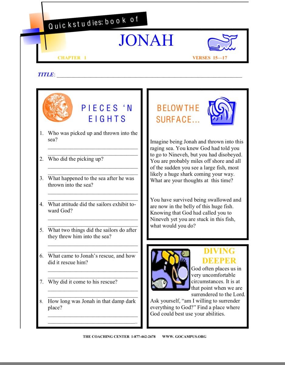 Jonah worksheet 4