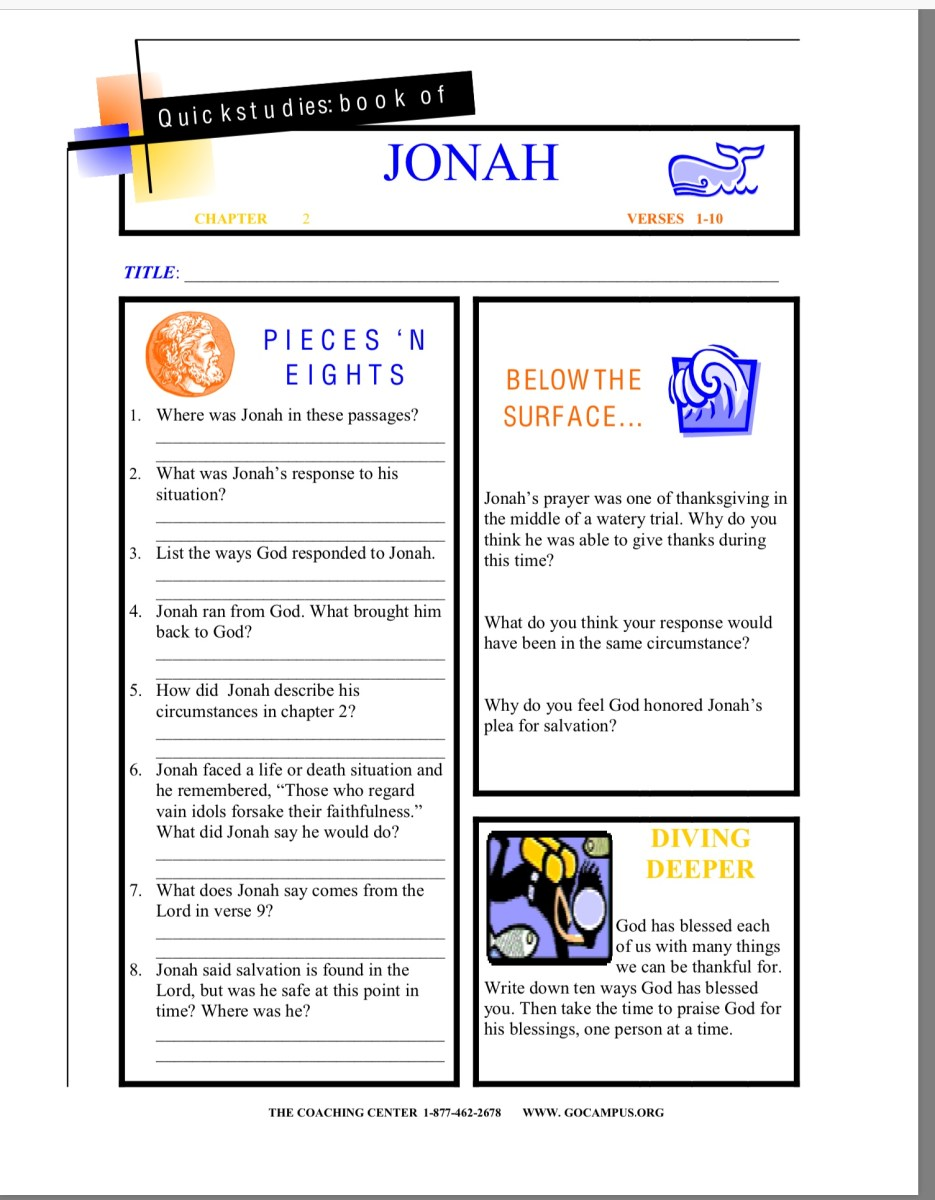 Jonah worksheet 5