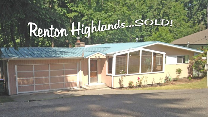 Home in Renton Highlands Just Sold