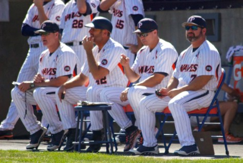The Pepperdine staff looks on. (Photo: Shotgun Spratling)