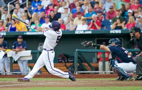 Derek Odell gets a hold of a ball with the bases loaded. (Photo: Shotgun Spratling)