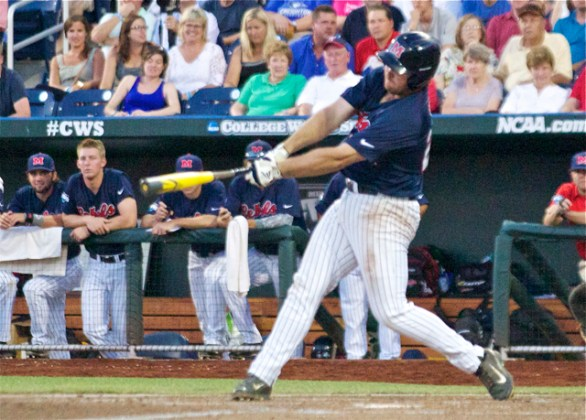 Sikes Orvis delivers one of his three RBI. (Photo: Shotgun Spratling)