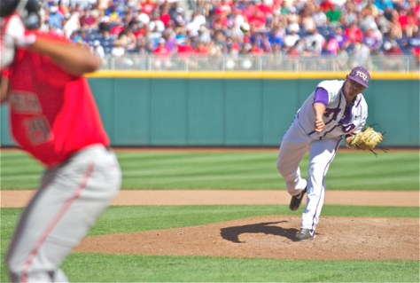 Riley Ferrell picked up the win in relief. (Photo: Shotgun Spratling)