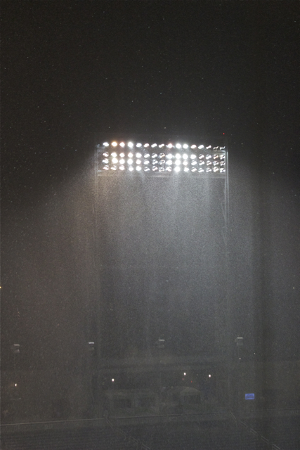 Six minutes later, TD Ameritrade was under heavy, heavy rainfall. (Photo: Shotgun Spratling)