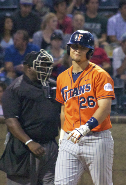 J.D. Davis can't believe a third strike call. (Photo: Shotgun Spratling)