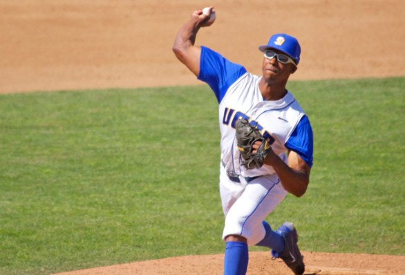 Dillon Tate struck out 4 in 2 IP for his 8th save. (Photo: Shotgun Spratling)