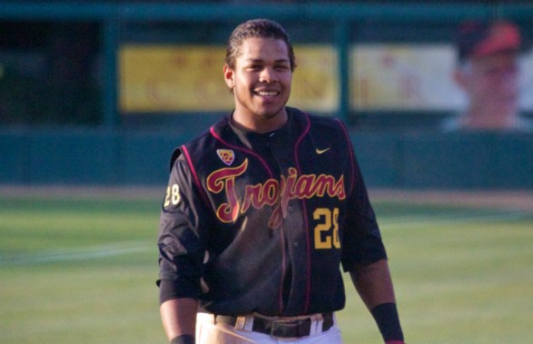Timmy Robinson scored two runs for USC. (Photo: Shotgun Spratling)