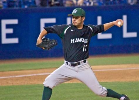 Jarrett Arakawa pitched well in his return from injury. (Photo: Shotgun Spratling)
