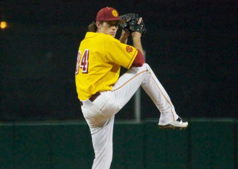 Kyle Twomey took the loss for USC.