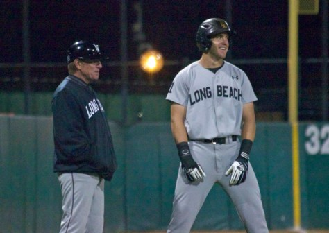 Richard Prigatano smiles while at third. (Photo: Shotgun Spratling)