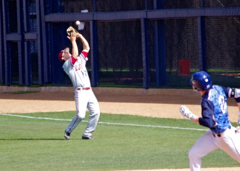 David Edwards catches a pop up in shallow right field.