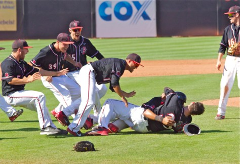 San Diego State won the MWC Tournament for the second year in a row. (Photo: Shotgun Spratling)