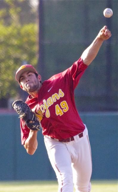 Marc Huberman pitched 1.1 scoreless innings. (Photo: Shotgun Spratling)