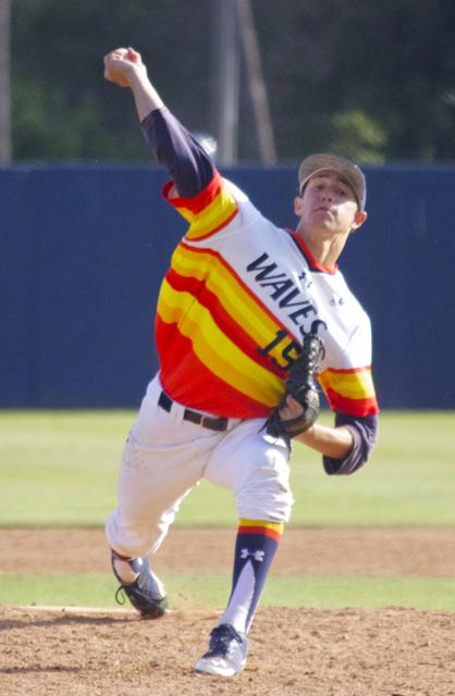 A.J. Puckett pitches in relief. (Photo: Shotgun Spratling)
