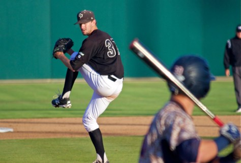 Casey Bloomquist allowed 1 ER in a complete game effort. (Photo: Shotgun Spratling)