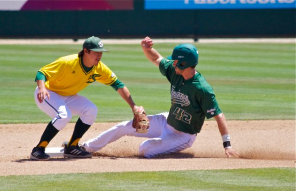 Zack Zehner had a pair of stolen bases. (Photo: Shotgun Spratling)