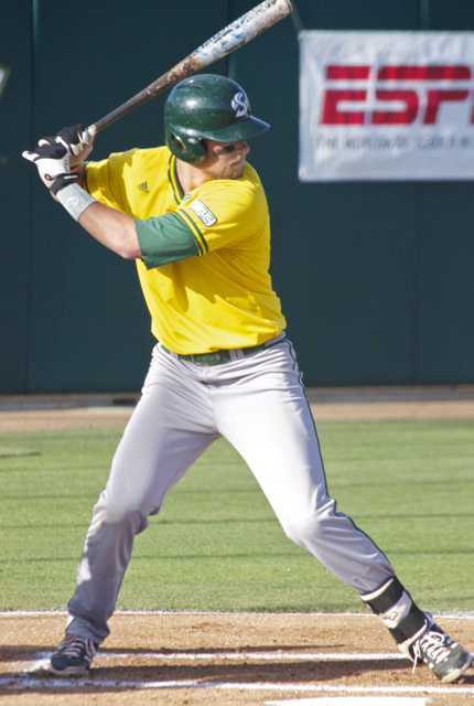 Rhys Hoskins was shut down by Cal Poly. (Photo: Shotgun Spratling)