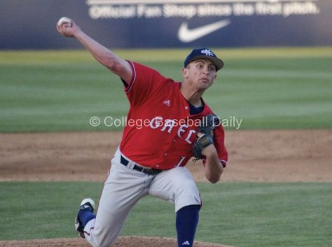 Cameron Neff pitched a four-hit shutout of #8 Cal State Fullerton.